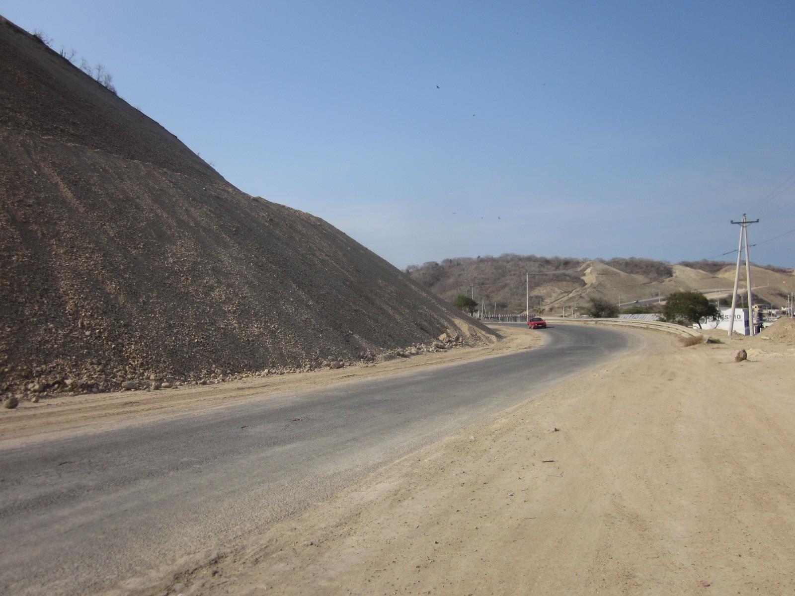 road along coast
